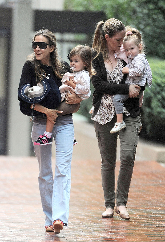 SJP with Marion and Tabitha in rainy NYC.