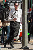 Jon Hamm on the set of Mad Men.