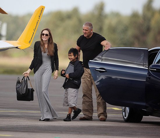 Angelina Jolie and Maddox Take Flying Lessons Together!