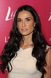 Demi Moore curled her black tresses for the lunch reception.