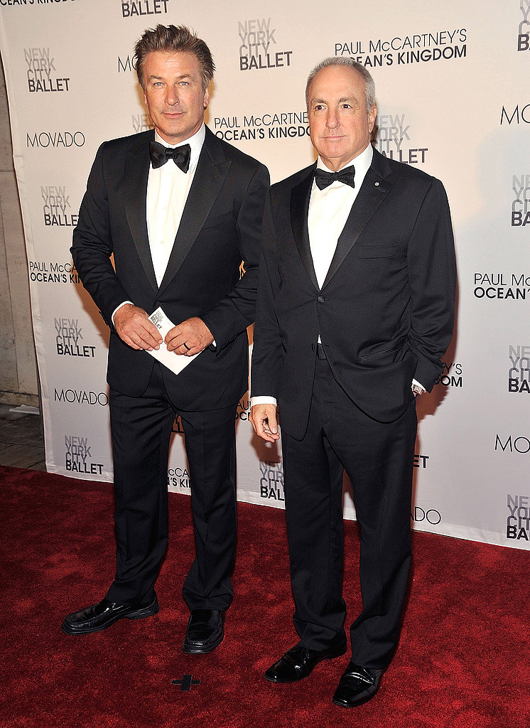 Alec Baldwin and Lorne Michaels at the opening of Ocean's Kingdom.