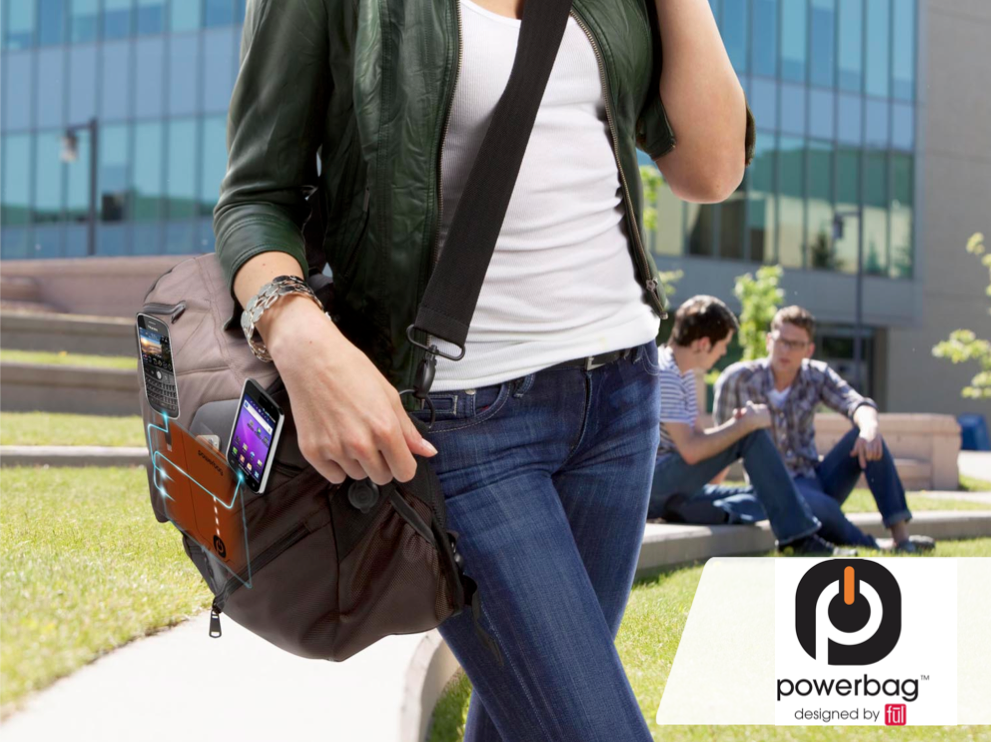 Charge Your Gadgets While You Commute: Powerbag