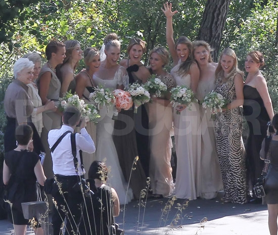 A Bridal Party Molly Sims posed with her bridesmaids Back to Story