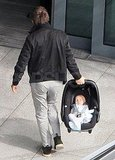Matt Bellamy with young son Bingham Bellamy.
