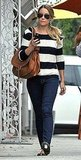 Lauren Conrad in striped sweater in LA.