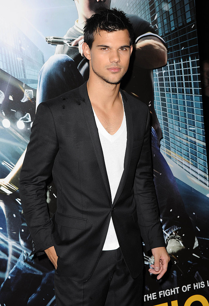 Taylor Lautner on the red carpet for Abduction in London.
