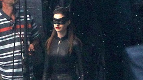 Video: Anne Hathaway Reveals Her Sexy Catwoman Suit on Set