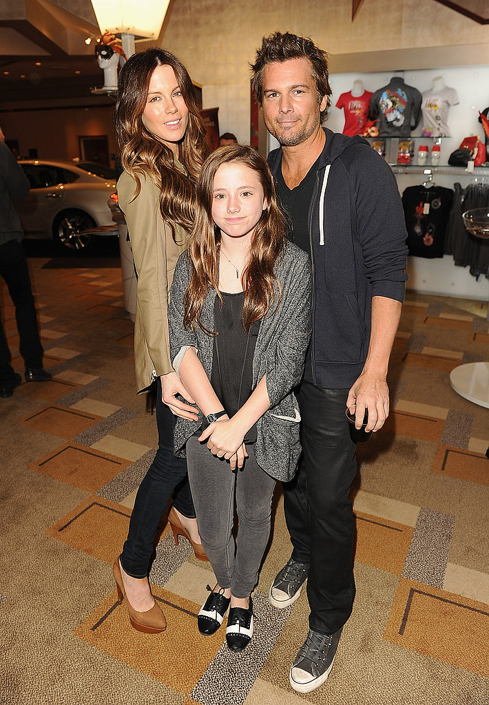 Kate Beckinsale, Lily Sheen, and Len Wiseman went to the Iris premiere as a family.