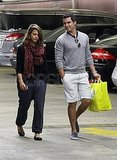 Jessica Alba with her husband in LA.