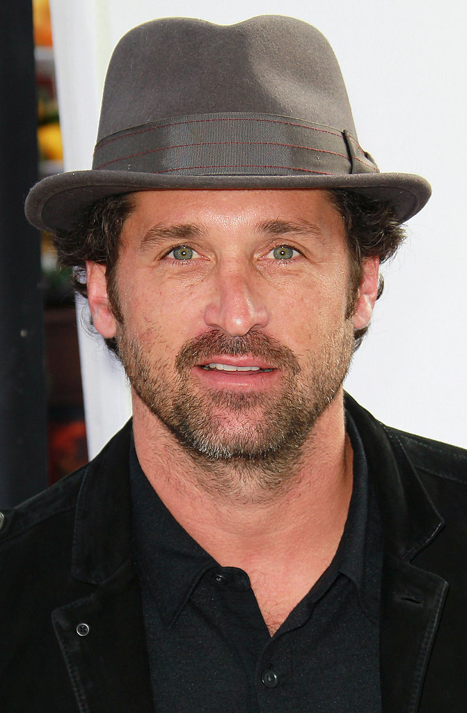Patrick Dempsey wore a hat on the red carpet.