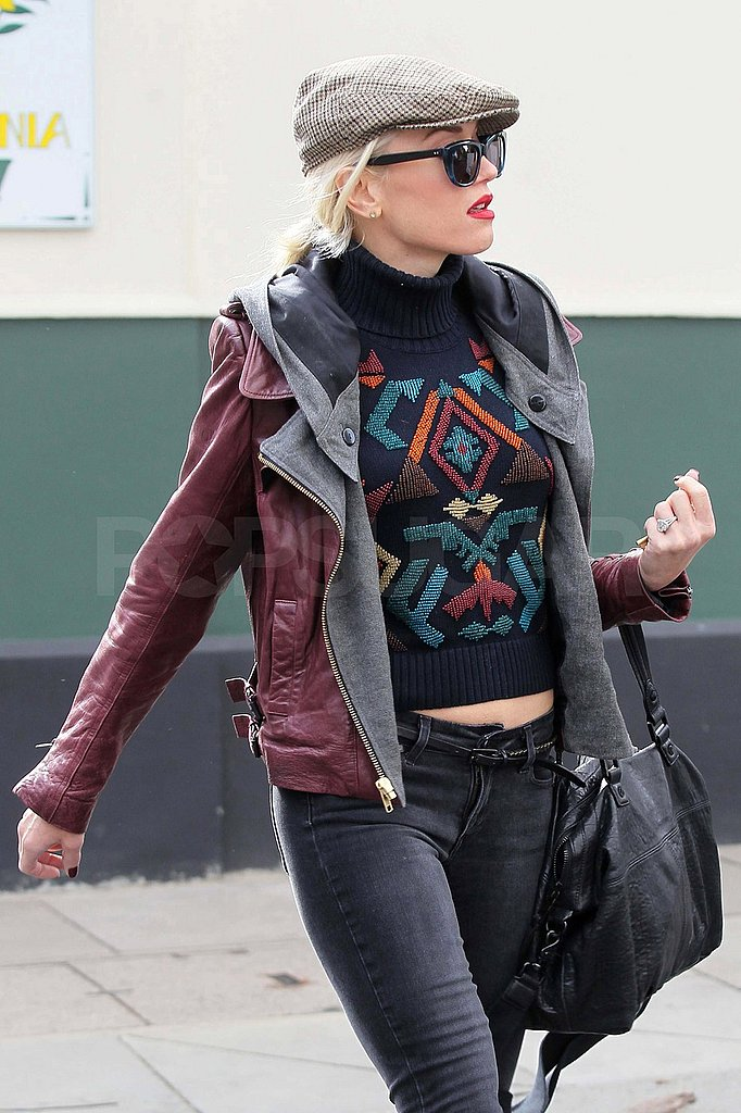 Gwen Stefani ran errands around Primrose Hill today.