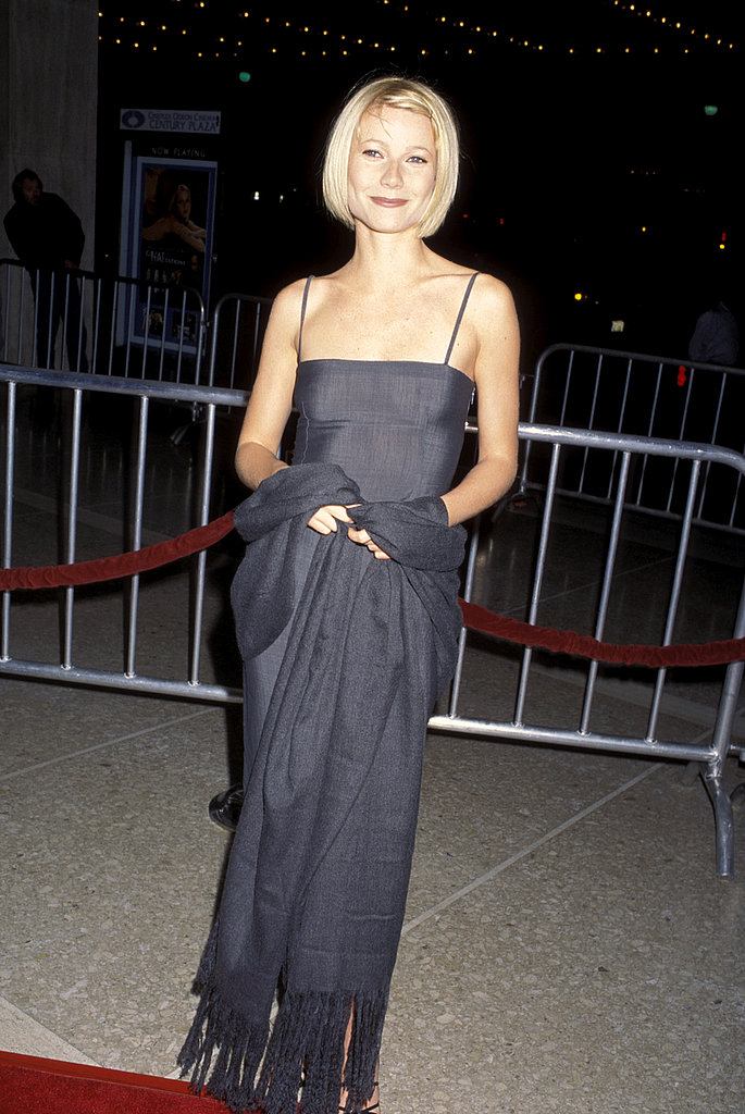 Showing off her sharp bob and a minimalist gown at the Great Expectations premiere in 1998.