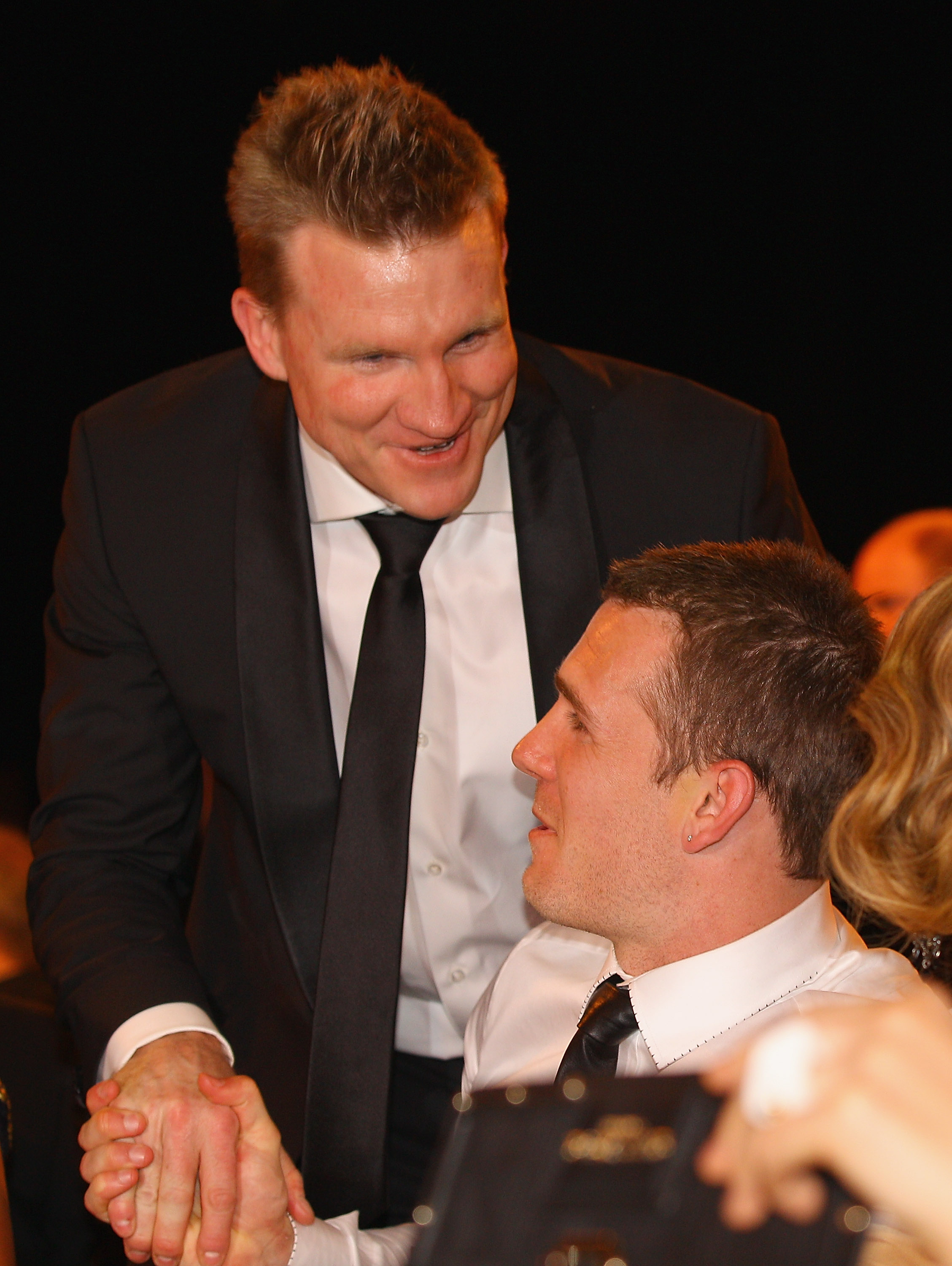 Nathan Buckley and Dane Swan