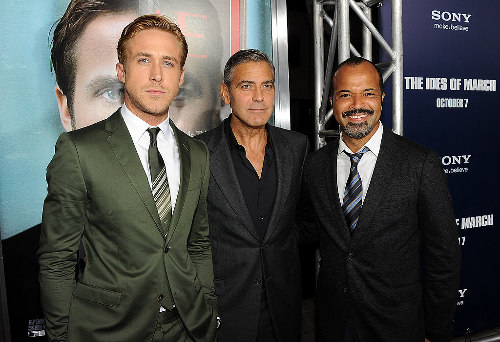 Ryan Gosling, George Clooney, and Jeffrey Wright posed together at the The Ides of March premiere.