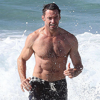 Hugh Jackman Shirtless Pictures on Bondi Beach