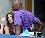 Khloe and Lamar, who had at that point been together for about a  month, cuddled close during the wedding rehearsal in 2009.