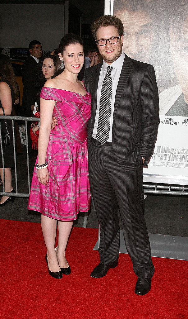 Seth Rogen brought his fiancée, Lauren Miller, to a film screening in NYC.
