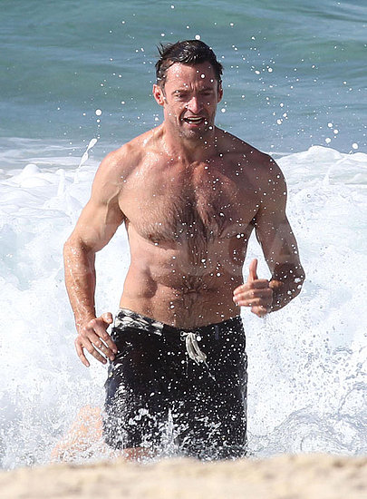 Hugh Jackman Shows His Abs of Steel at an Australian Beach!