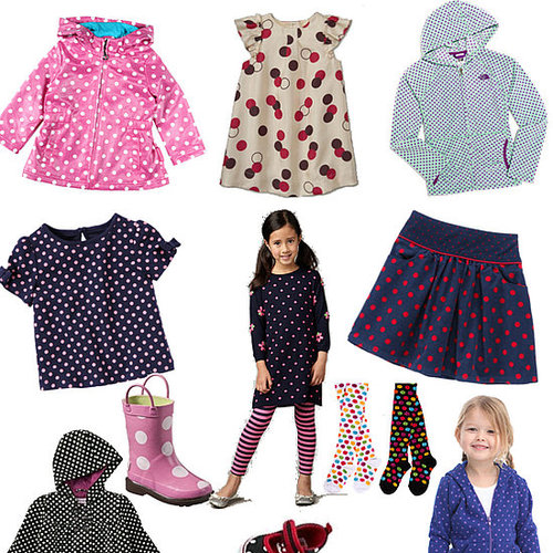 Polka-Dot Clothes For Little Girls