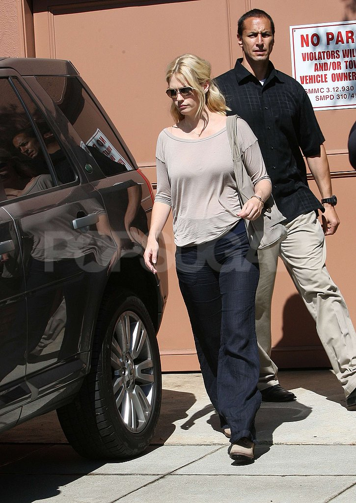 January Jones got into her car with Xander Jones.