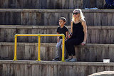 Gwen Stefani and Kingston watch a show at the zoo in London.