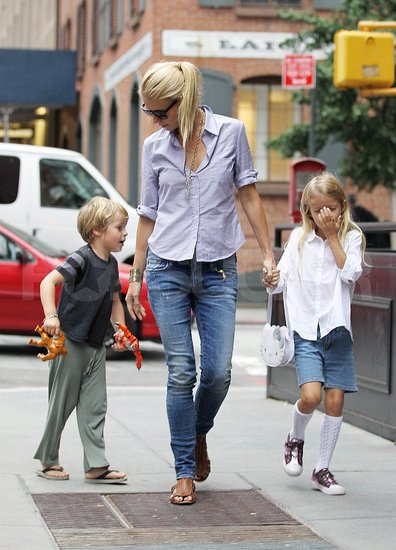 Gwyneth Paltrow Celebrates 39 With a Birthday Stroll Alongside Apple and Moses