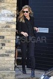 Kate Moss left her house in London.