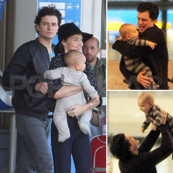 Aww — Orlando Bloom Is Overjoyed to Reunite With Miranda and Flynn!