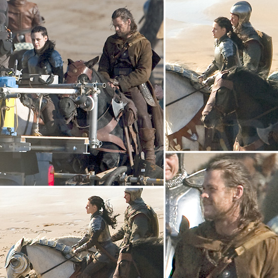 Kristen Stewart Rides Into Battle With Her Huntsman Chris Hemsworth