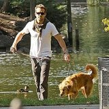 Ryan Reynolds and His Best Friend Baxter Break From R.I.P.D. For a Park Day