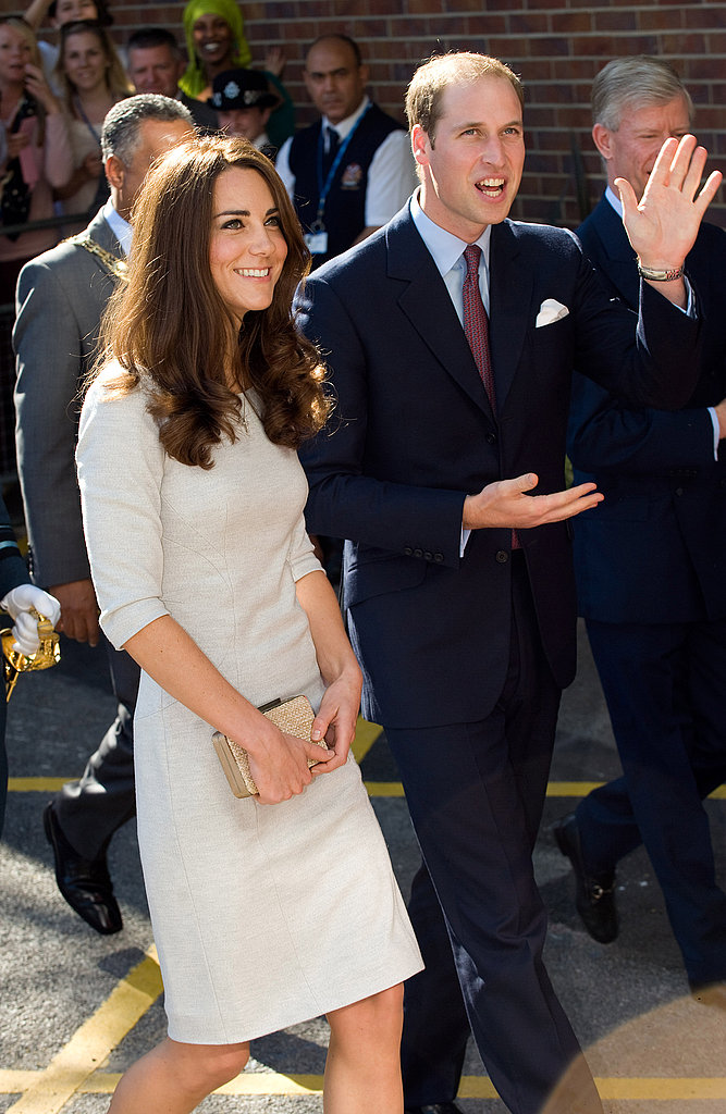 Kate Middleton and Prince William dressed up to do charity work in London.