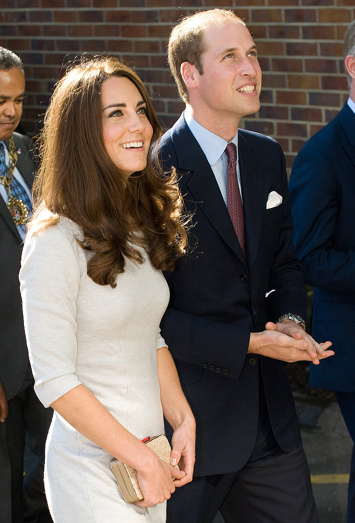 Kate Middleton and Prince William looked up at the Royal Marsden Hospital.