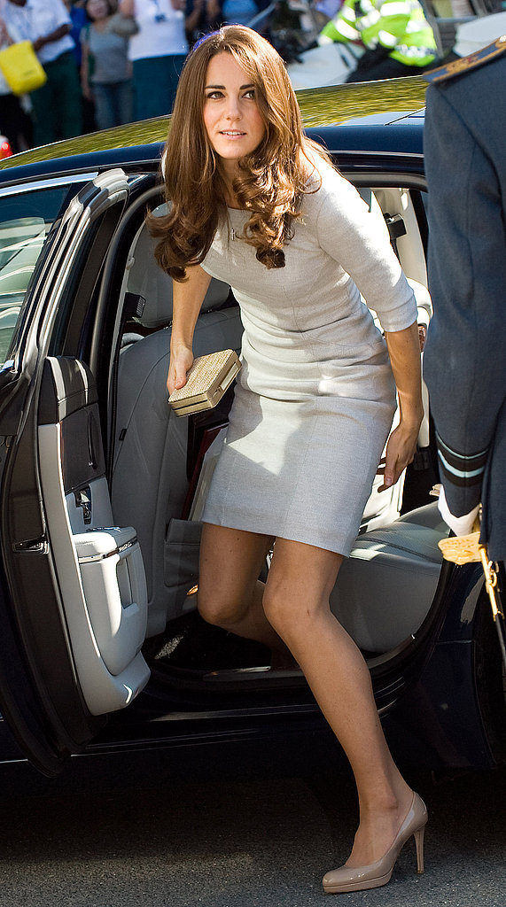 Kate Middleton got out of a car in London.