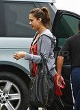 Jessica Alba at the gym in LA.