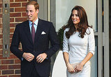 William and Kate walk outside.