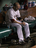 After a strong start, Boston had a tough finish to say the least. Dustin Pedroia wears his disappointment on his face.