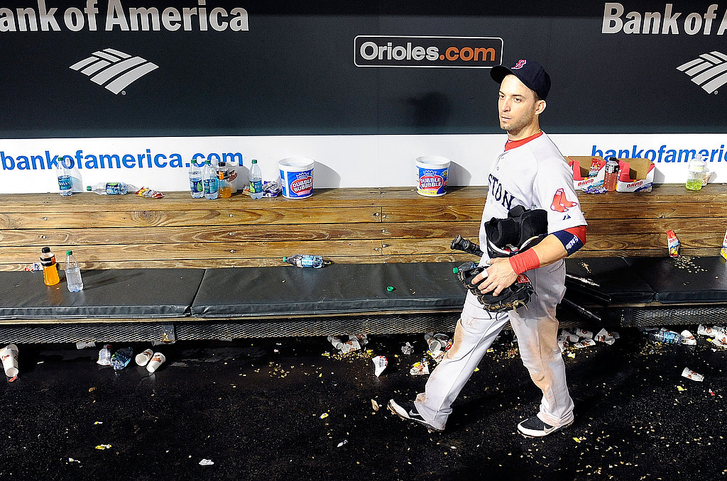 There's only one cute baseball player left in the Red Sox dugout after last night's devastating loss.