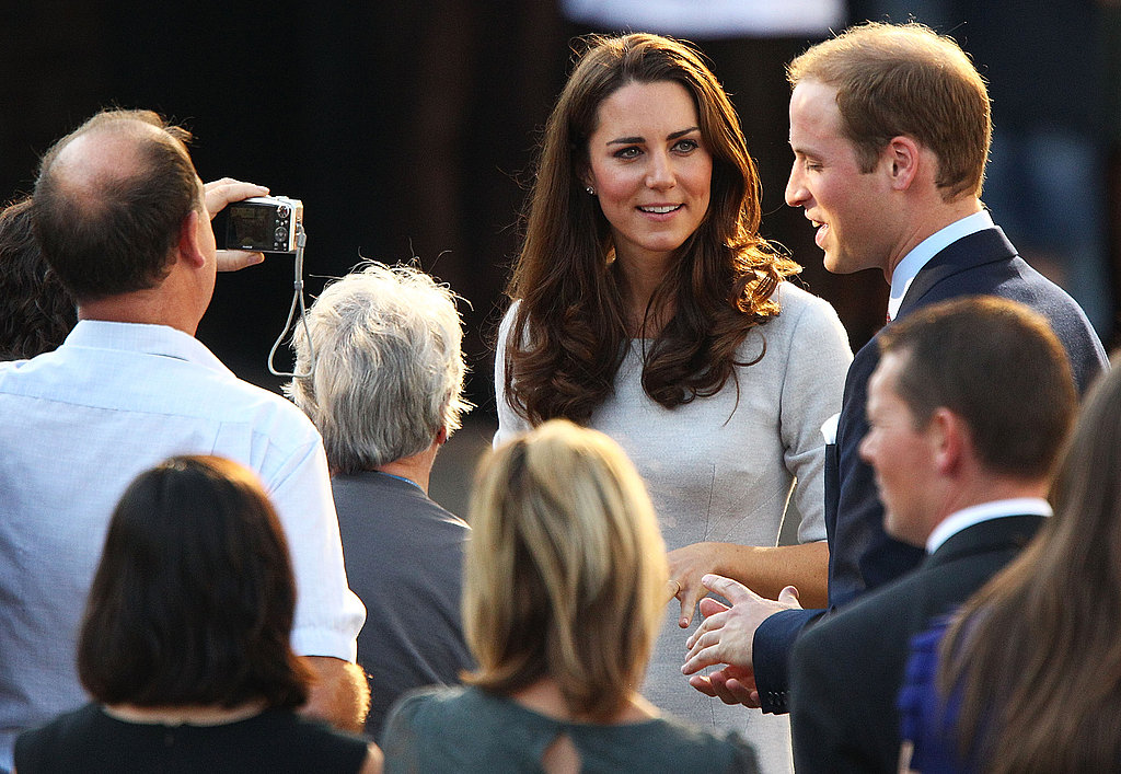 Will and Kate talk with people after the ceremony.