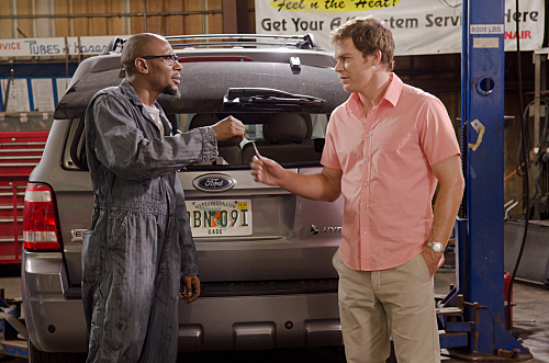 Mos Def as Brother Sam and Michael C. Hall as Dexter Morgan on Dexter.  Photo courtesy of Showtime