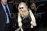 Mary-Kate and Ashley Olsen took a private car to a party in Paris.