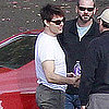 Tom Cruise Driving on One Shot Set Pictures