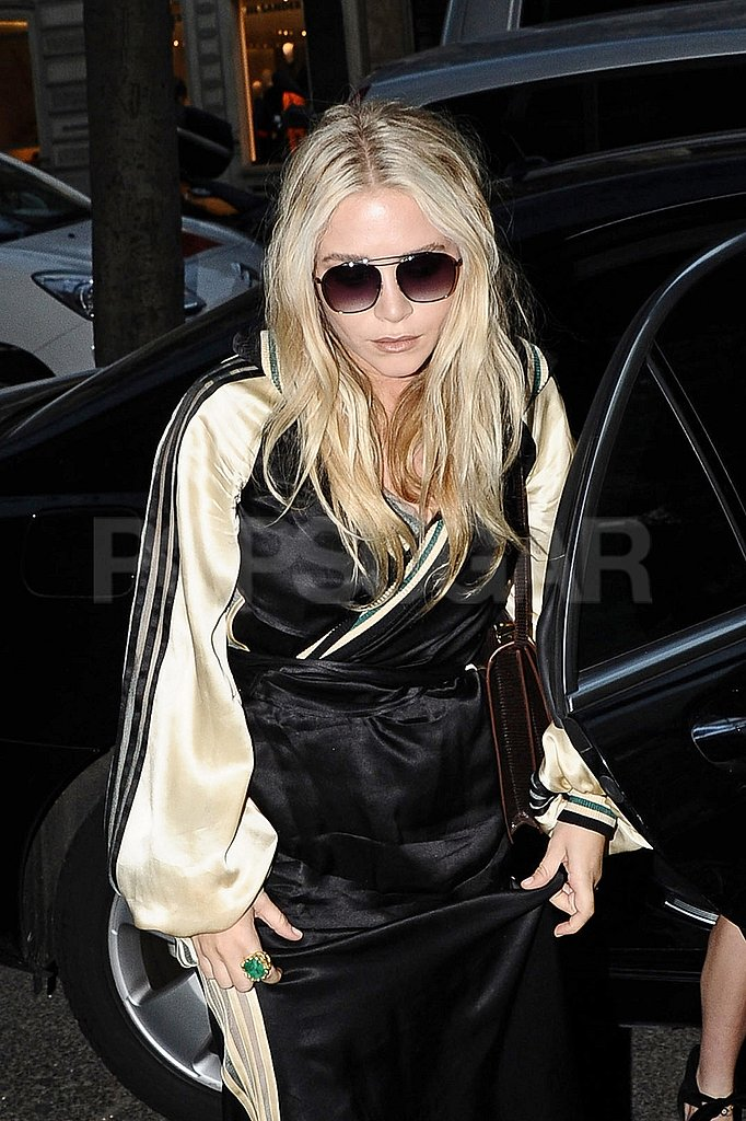 Mary-Kate Olsen wore black in Paris.