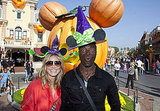 Heidi Klum and Seal pose at Disneyland.