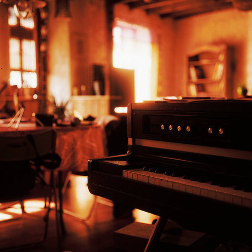 The warm of the piano