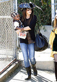 Sandra Bullock and Louis Bullock headed home after a day of pirate-themed activities in LA.