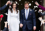 Friends welcomed newlyweds Paul McCartney and Nancy Shevell with flower petals.