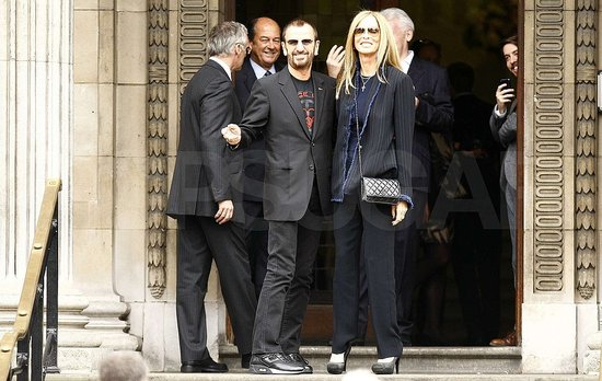 Ringo Star and his wife Barbara attended Paul McCartney's wedding.