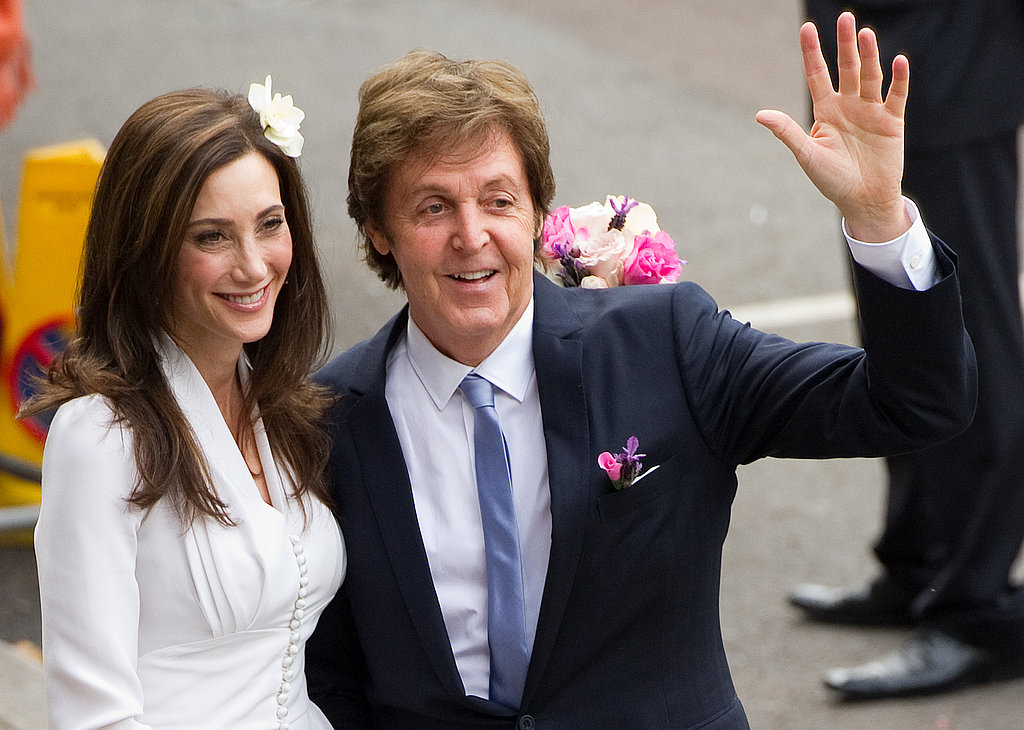 Paul and Nancy wore Stella McCartney designs.