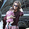 Victoria Beckham and Harper Beckham Wearing Pink Pictures