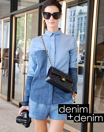 Spring 2012 Fashion Week Street Style Trend: Denim on Denim